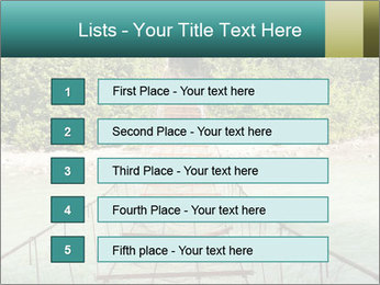 Turquois River into the Woods PowerPoint Template - Slide 3