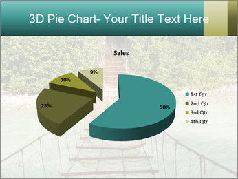 Turquois River into the Woods PowerPoint Template - Slide 35