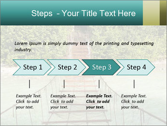 Turquois River into the Woods PowerPoint Template - Slide 4