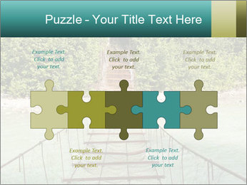 Turquois River into the Woods PowerPoint Template - Slide 41