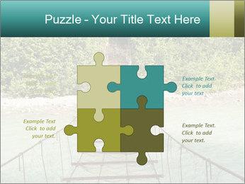 Turquois River into the Woods PowerPoint Template - Slide 43