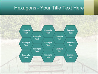 Turquois River into the Woods PowerPoint Template - Slide 44