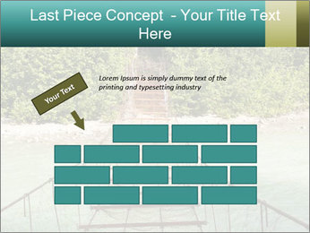 Turquois River into the Woods PowerPoint Template - Slide 46