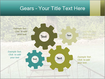 Turquois River into the Woods PowerPoint Template - Slide 47