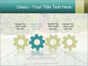 Turquois River into the Woods PowerPoint Template - Slide 48