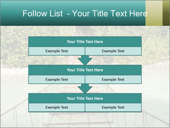 Turquois River into the Woods PowerPoint Template - Slide 60