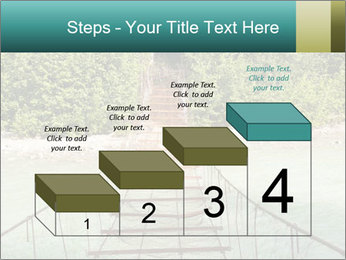 Turquois River into the Woods PowerPoint Template - Slide 64
