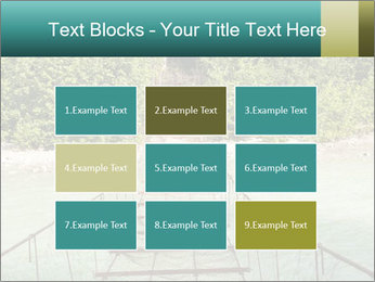 Turquois River into the Woods PowerPoint Template - Slide 68