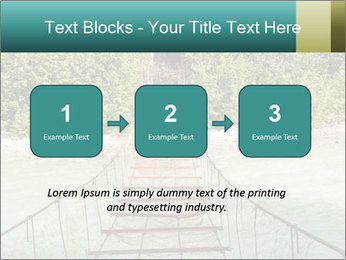 Turquois River into the Woods PowerPoint Template - Slide 71