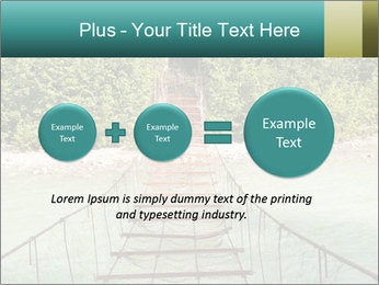 Turquois River into the Woods PowerPoint Template - Slide 75