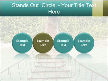 Turquois River into the Woods PowerPoint Template - Slide 76