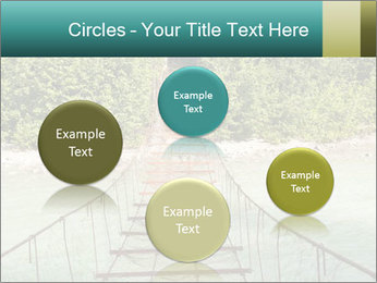 Turquois River into the Woods PowerPoint Template - Slide 77