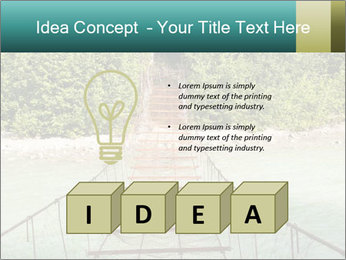 Turquois River into the Woods PowerPoint Template - Slide 80