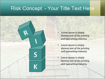 Turquois River into the Woods PowerPoint Template - Slide 81