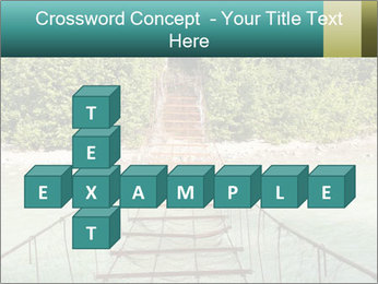 Turquois River into the Woods PowerPoint Template - Slide 82