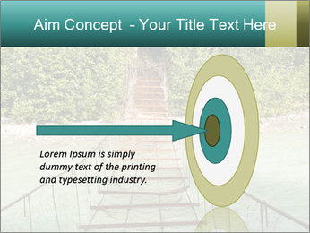 Turquois River into the Woods PowerPoint Template - Slide 83
