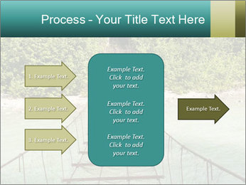 Turquois River into the Woods PowerPoint Template - Slide 85