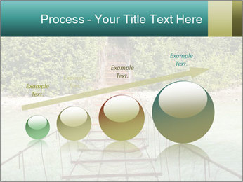 Turquois River into the Woods PowerPoint Template - Slide 87