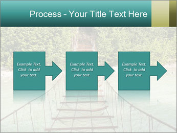 Turquois River into the Woods PowerPoint Template - Slide 88