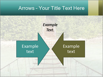 Turquois River into the Woods PowerPoint Template - Slide 90