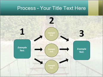 Turquois River into the Woods PowerPoint Template - Slide 92