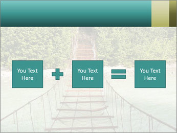 Turquois River into the Woods PowerPoint Template - Slide 95