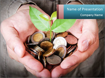 Money growing PowerPoint Template