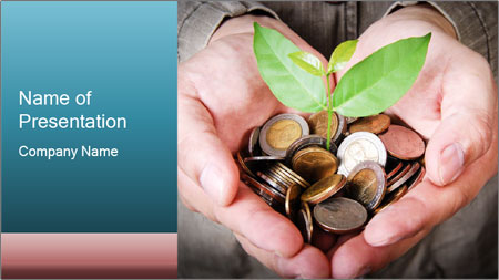 Money growing PowerPoint Template - Slide 1
