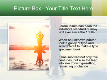 Yoga woman sitting in lotus pose PowerPoint Templates - Slide 13