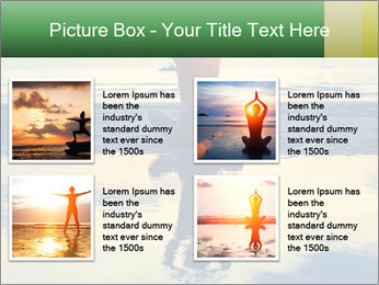 Yoga woman sitting in lotus pose PowerPoint Templates - Slide 14