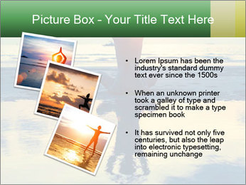 Yoga woman sitting in lotus pose PowerPoint Template - Slide 17