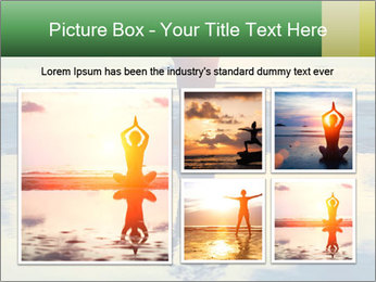 Yoga woman sitting in lotus pose PowerPoint Template - Slide 19