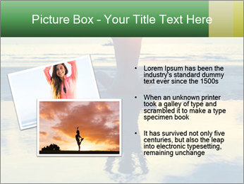 Yoga woman sitting in lotus pose PowerPoint Template - Slide 20