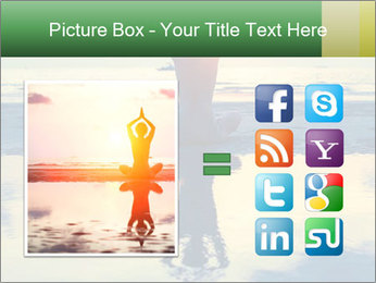 Yoga woman sitting in lotus pose PowerPoint Template - Slide 21