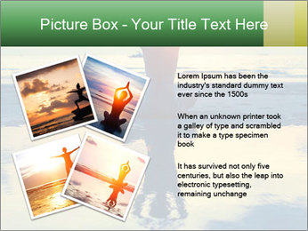 Yoga woman sitting in lotus pose PowerPoint Template - Slide 23