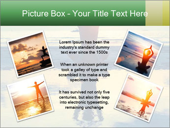 Yoga woman sitting in lotus pose PowerPoint Template - Slide 24