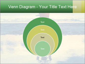Yoga woman sitting in lotus pose PowerPoint Template - Slide 34