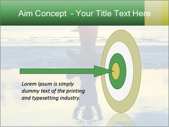 Yoga woman sitting in lotus pose PowerPoint Template - Slide 83