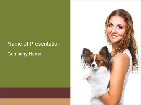 Beautiful young girl PowerPoint Templates