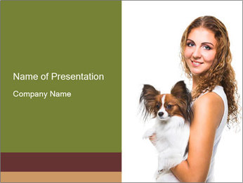 Beautiful young girl PowerPoint Template - Slide 1