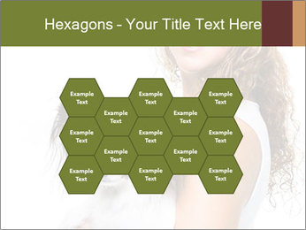 Beautiful young girl PowerPoint Templates - Slide 44