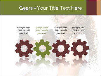 Beautiful young girl PowerPoint Templates - Slide 48