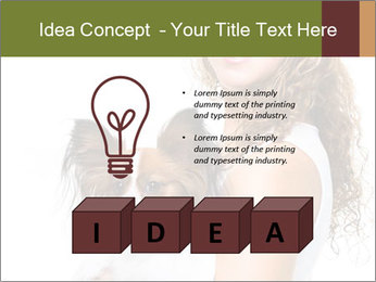 Beautiful young girl PowerPoint Templates - Slide 80
