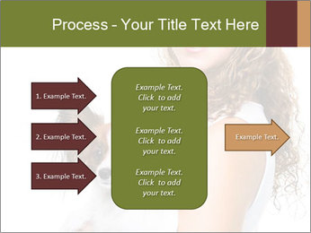 Beautiful young girl PowerPoint Templates - Slide 85
