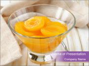 Canned preserve peaches PowerPoint Templates