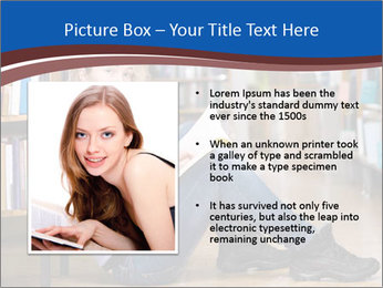 Female student PowerPoint Template - Slide 13