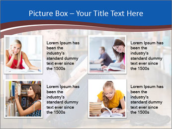 Female student PowerPoint Template - Slide 14