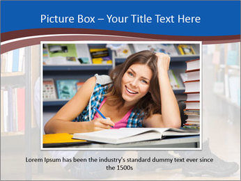 Female student PowerPoint Template - Slide 15