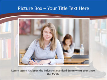 Female student PowerPoint Template - Slide 16