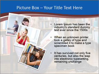 Female student PowerPoint Template - Slide 17
